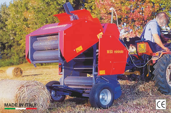Miniroto - balers for small cylindrical bales
